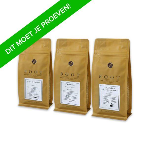 Boot Koffie Proefpakket Filter - 3 x 50 gram