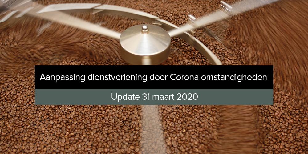 Aanpassing dienstverlening door Corona omstandigheden